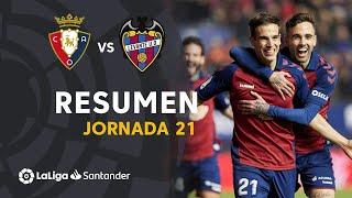 Resumen de CA Osasuna vs Levante UD (2-0)