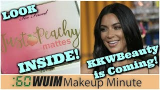 Too Faced Just Peachy Palette & Melted Latex + KKW Beauty Kim by Kardashian COMING!   Makeup Minute