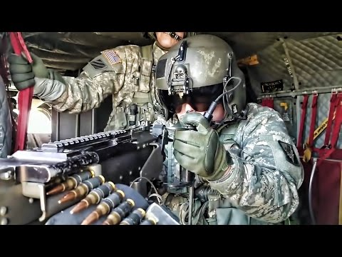 Chinook Gunnery Exercise • Army Crew Chiefs Fire The M-240H