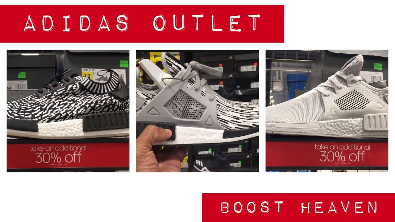 Boost Heaven in a Adidas Outlet in