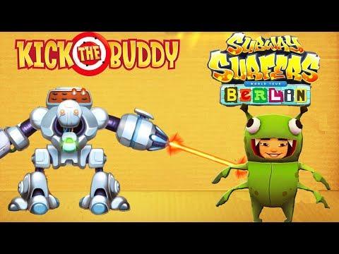 Kick The Buddy VS Subway Surfers Berlin Yutani Run | Android Games Gameplay | Friction Games