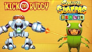 Kick The Buddy VS Subway Surfers Berlin Yutani Run | Android Games Gameplay | Friction Games