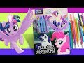My little pony Activity book 'Friendship Adventure' coloring for kids MLP colouring pages