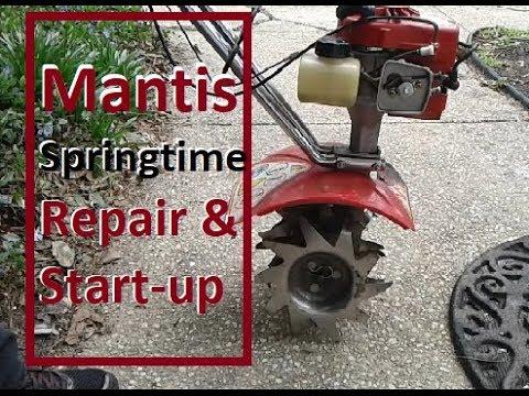 Fixing a Mantis Tiller that will not start - Springtime Start-up Techniques