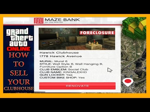 GTA 5 How To Sell Your Clubhouse or Trade Your Clubhouse Online