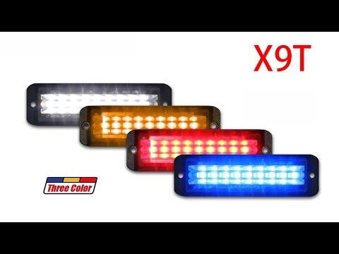 Three Color LED Strobe Light - X9T | 911Signal