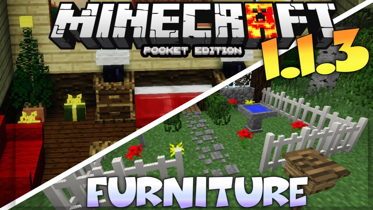 Minecraft pe 1 9 furnitiure mod addon review mcpe modern tools addon mod