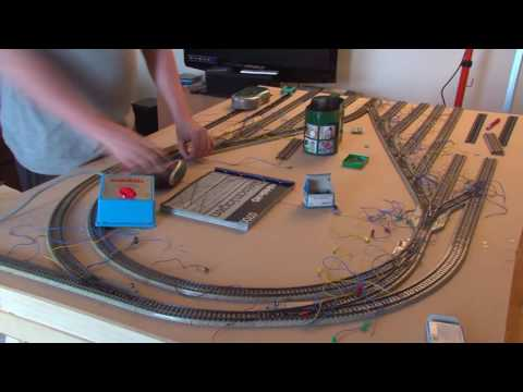 Model railroad build time-lapse
