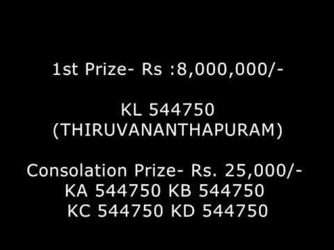 Karunya Kerala LOTTERY Result  NO. KR-350 th DRAW held on 16/06/2018