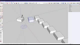 sketchUp 05 Точные размеры и тиражирование