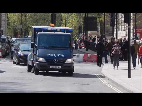 Metropolitan Police siren & lights prison transport'