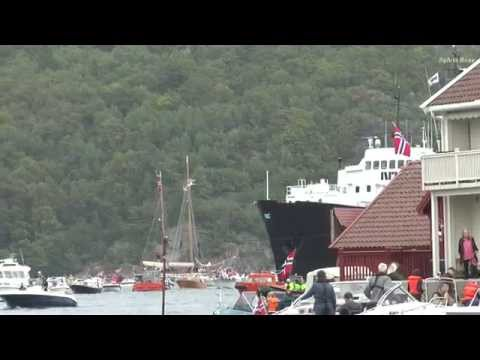 Båtmottakelse av MS Sjøkurs i Farsund