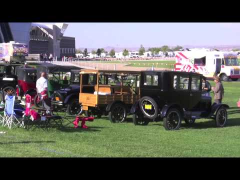 Antique cars on display @ the 2012 Balloon Fiesta in Albuquerque, NM.