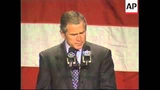 USA: NEW YORK: BUSH/LAZIO PRESIDENTIAL CAMPAIGNS