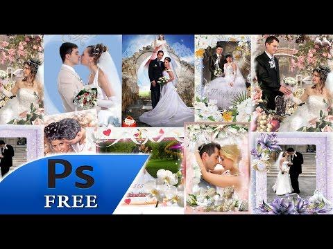 20 Pack Bodas PSD plantillas para photoshop - YouTube