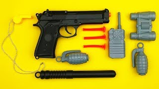 GUN POLICE LEARN COLORS TOYS TOY GUNS TOYS POLICE