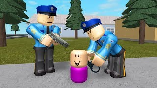 CRIMINAL BABY GETS ARRESTED! - Roblox Jailbreak Roleplay