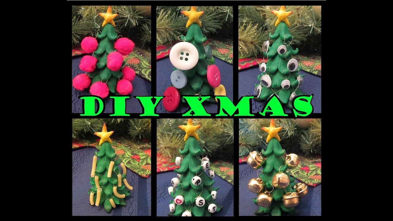 Polymer Clay Christmas Tree Decorations.Polymer Clay Christmas Tree With Hanging Ornaments 10 Steps