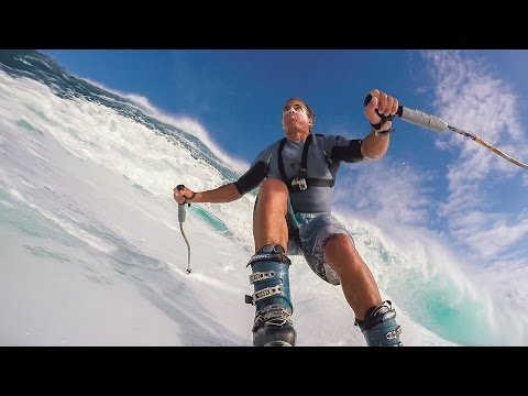GoPro: Chuck Patterson Skis Giant Wave at Jaws