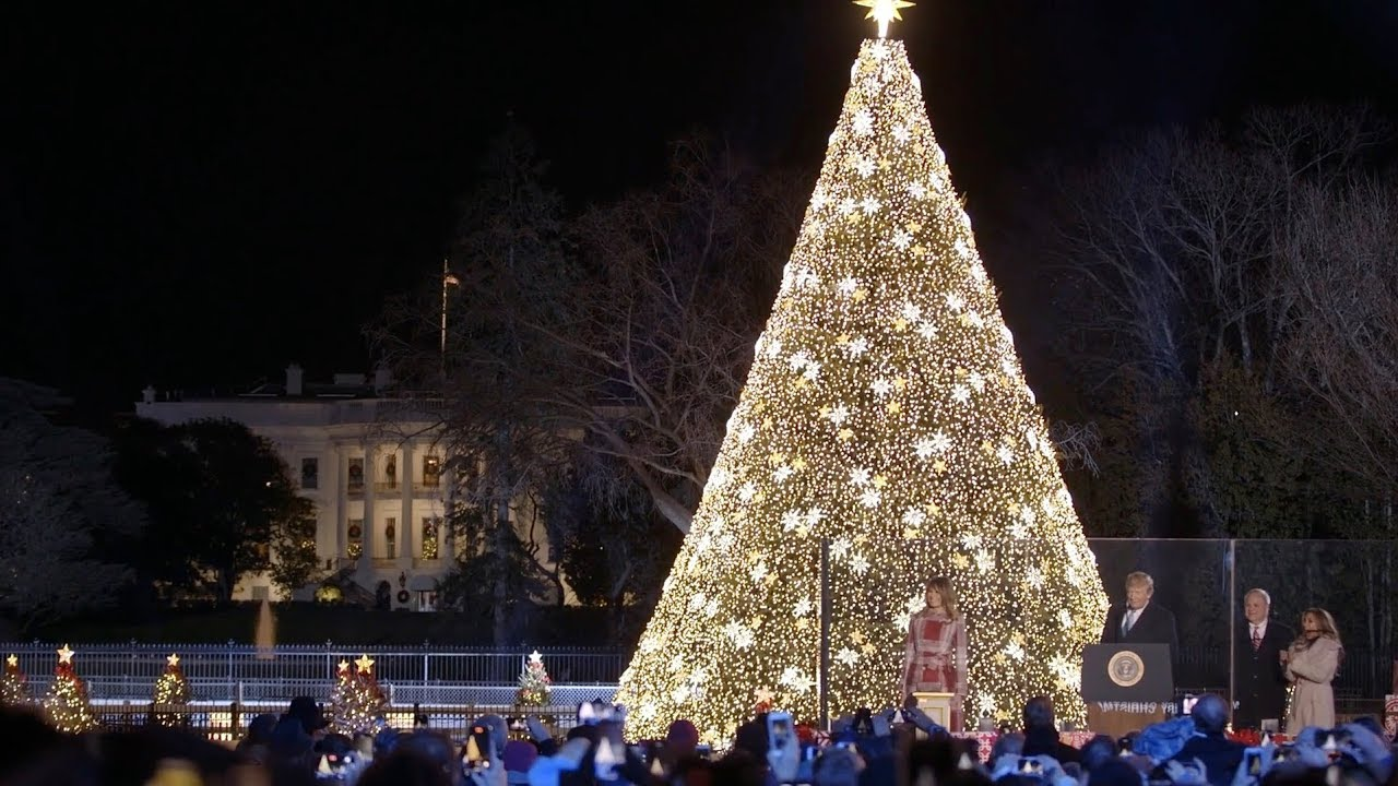 President Trump and the First Lady Light the 2019 National Christmas Tree - The White House