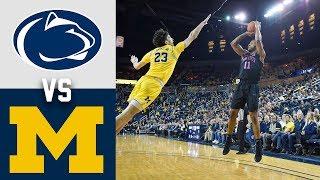 Penn State vs Michigan Highlights 2020 College Basketball