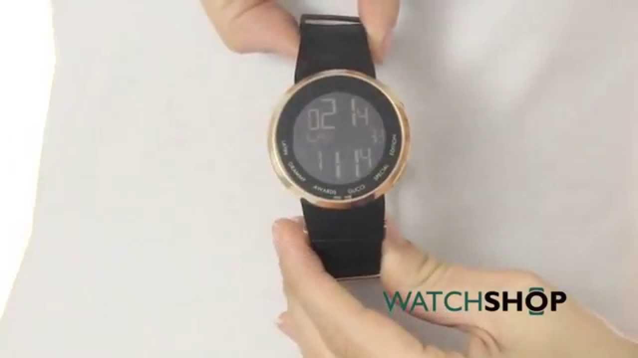 d6a77a44f9b Gucci Unisex I- Alarm Chronograph Watch (YA114222) - YouTube