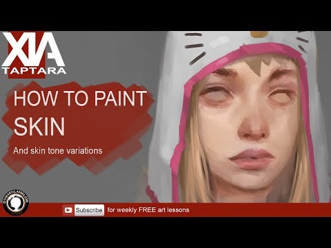 How to paint skin