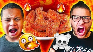 Last To Stop Eating WORLDS HOTTEST WINGS Wins $10,000 - Challenge *DO NOT ATTEMPT*