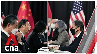 US-China talks in Alaska: Beijing threatens .firm actions. against .US interference. The US and China traded harsh words at the start of their meeting in Alaska, with US Secretary of State Antony Blinken saying China's actions .threaten the ..., From YouTubeVideos