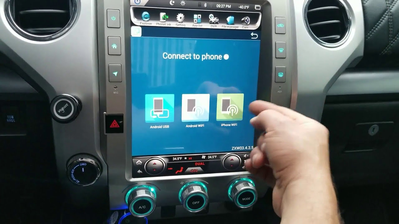 toyota tundra tesla style stereo review phoenix android radio  [ 1280 x 720 Pixel ]