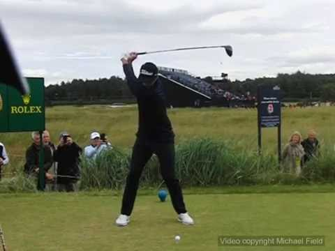 Adam Scott golf swing – driver (face-on view), July 2016