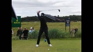 Adam Scott golf swing - driver (face-on view), July 2016