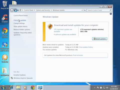 How To Update Windows 7 - Automatically Update The Operating System