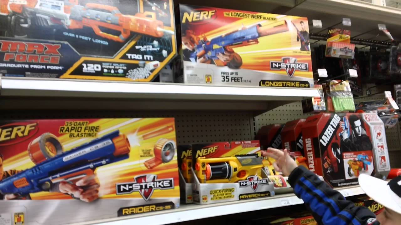 new nerf stuff at toys r us  YouTube