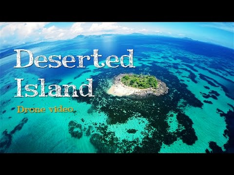 Palawan Paradise Island in the Philippines from a Drone