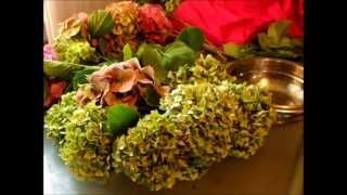 kolorowanie i suszenie hortensji