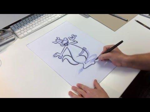 Vorzeichnung und Reinzeichnung beim Comiczeichnen