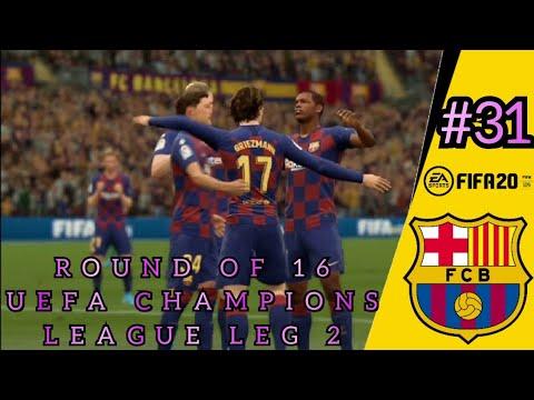 Download FIFA 20 BARCELONA CAREER MODE | ROUND OF 16 UEFA CHAMPIONS LEAGUE LEG KEDUA, ADA APA DENGAN PSG? #31