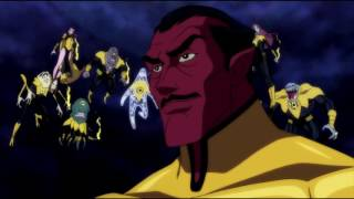 Atrocitus tells Abin Sur about the future (Green Lantern: Emerald Knights)