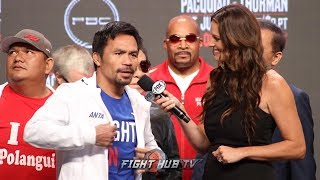 MANNY PACQUIAO'S FINAL MESSAGE TO KEITH THURMAN BEFORE FIGHT