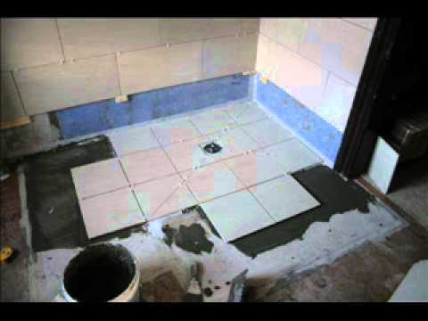 Jnv Tiling Laying Wet Floor Step By Step Youtube