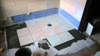 jnv tiling laying wet floor. step by step