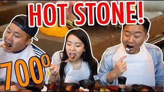 EATING OFF AN ASIAN STONE GRILL at 700 DEGREES! w/ Sierra Katow  // Fung Bros