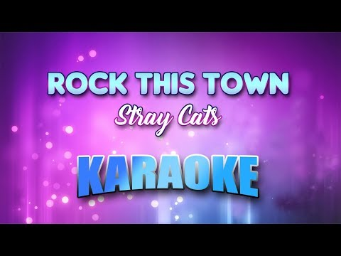 Stray Cats - Rock This Town (Karaoke version with Lyrics)
