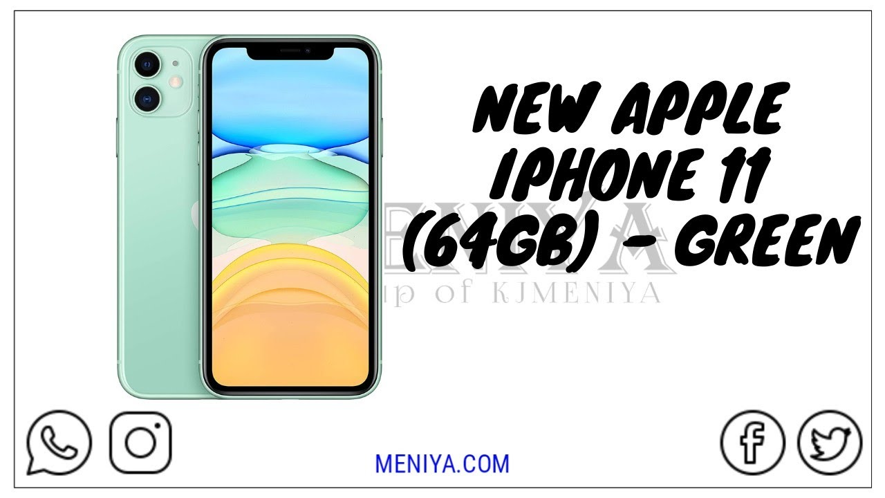 New Apple iPhone 11 64GB Green   Today Deal   MENIYA OFFICIAL