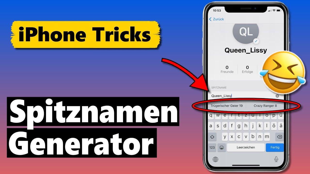 Lustige Spitznamen mit dem iPhone generieren 🤣