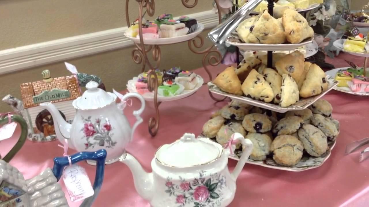 Womanu0027s Tea Party Set Up YouTube