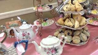 Woman's Tea Party Set Up