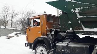 Замело меня !!! Вывожу снег Камазом!!!