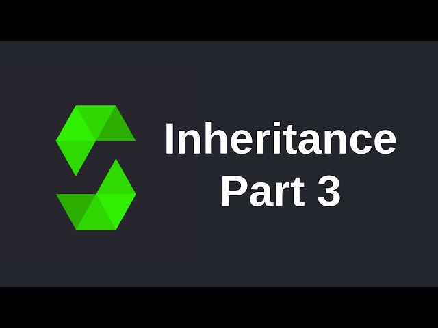 Learn Solidity (0.5) - Inheritance (part 3)